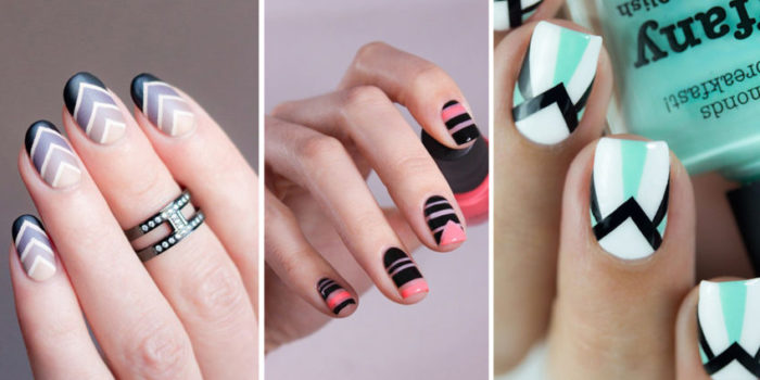 геометрия на ногтях фото 6