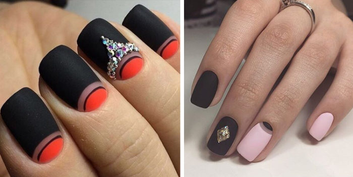 рисунки на матовых ногтях (основе) фото 1