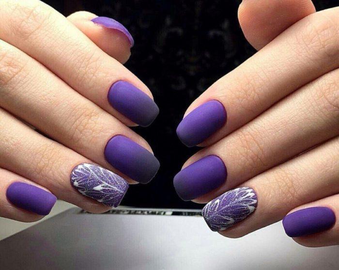 рисунки на матовых ногтях (основе) фото 2
