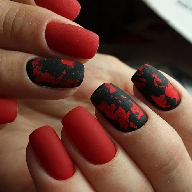 рисунки на матовых ногтях (основе) фото 3