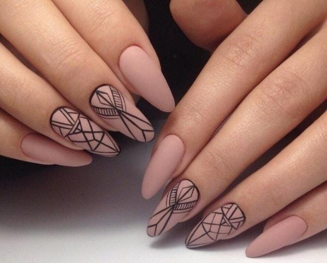 рисунки на матовых ногтях (основе) фото 4