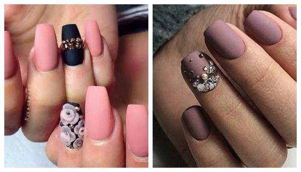рисунки на матовых ногтях (основе) фото 6