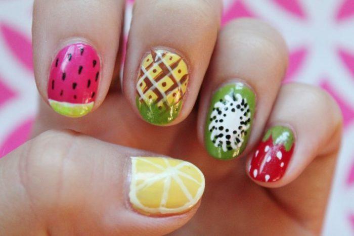 фрукты, ягоды и овощи на ногтях фото 3