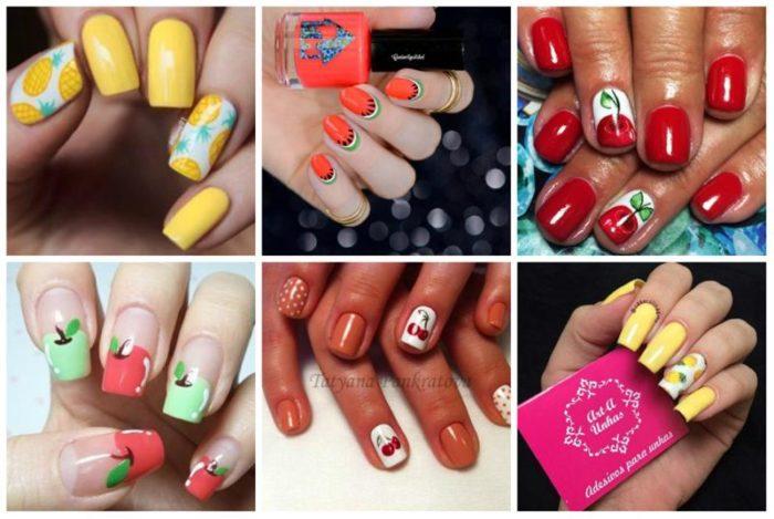 фрукты, ягоды и овощи на ногтях фото 4