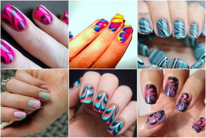 модные рисунки на ногтях, фото 2018 4