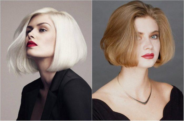 модное каре на прямые гладкие волосы 2018, фото идеи 2