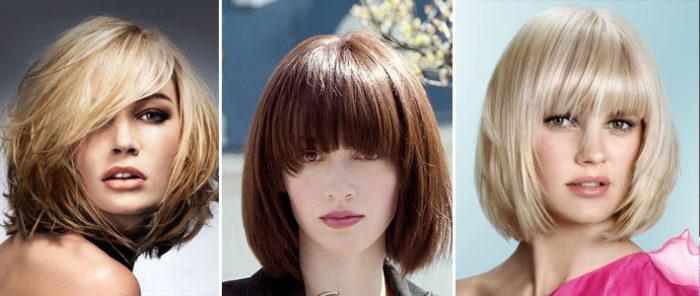 стрижка боб на средние волосы 2018, модные тенденции на фото 4