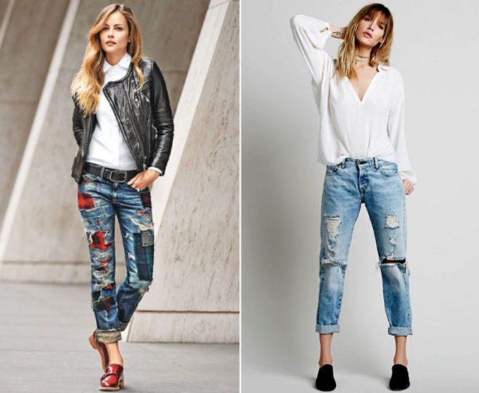 джинсы-бойфренды фото 1