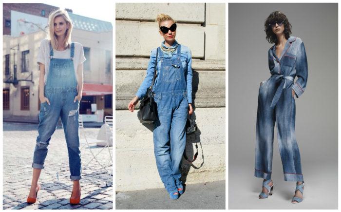 джинсовые комбинезоны фото 1