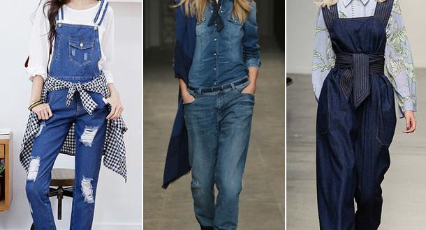 джинсовые комбинезоны фото 2