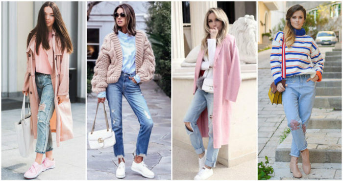 с чем носить модные джинсы весна-лето 2018 фото образы 2