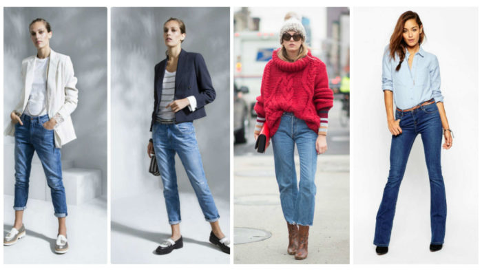 с чем носить модные джинсы весна-лето 2018 фото образы 5