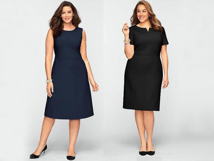 модные офисные платья для полных и беременных женщин весна-лето 2018, фото 1