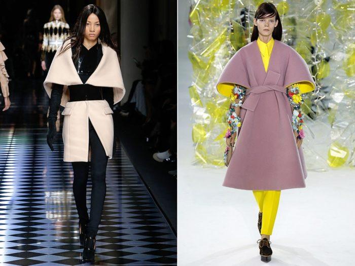 модные пальто с короткими и укороченными рукавами весна-лето 2018, фото новинки 1