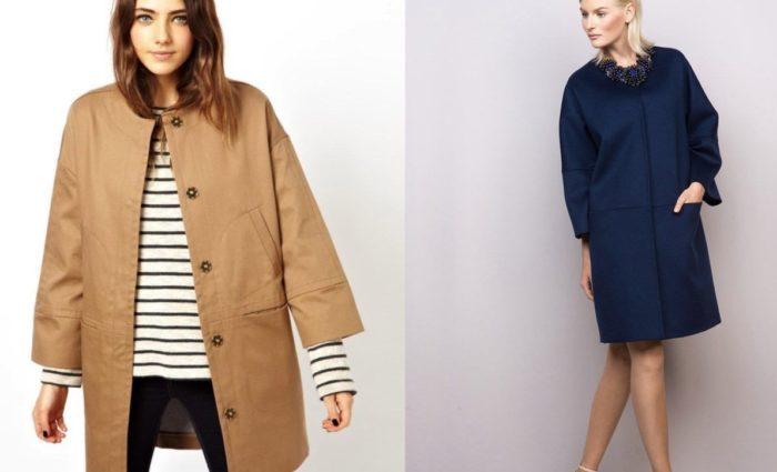 модные пальто с короткими и укороченными рукавами весна-лето 2018, фото новинки 2