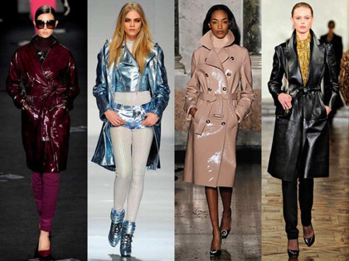 модные кожаные пальто весна-лето 2018 фото 2