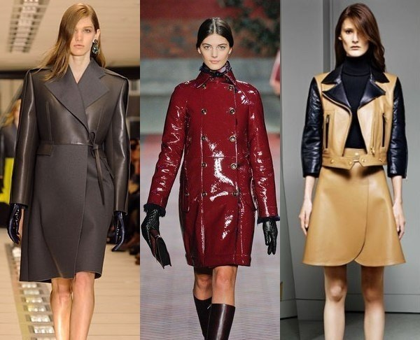 модные кожаные пальто весна-лето 2018 фото 3