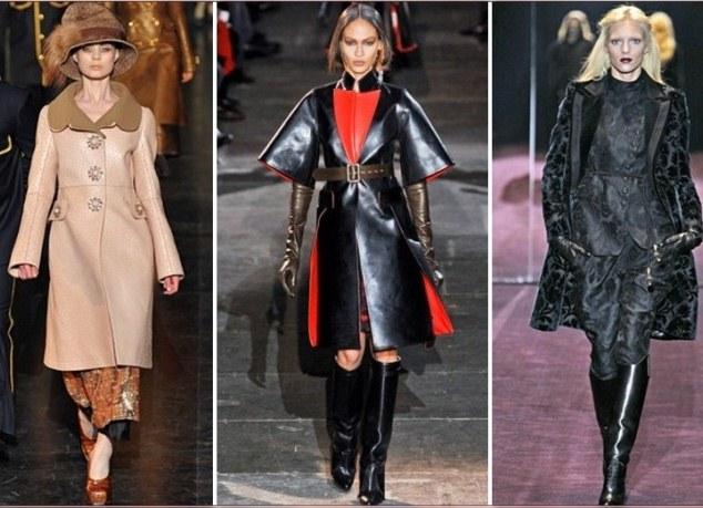 модные кожаные пальто весна-лето 2018 фото 4