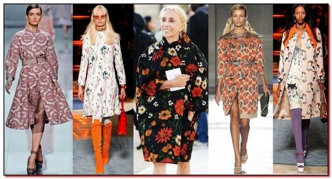 модные принты в пальто весна-лето 2018 фото 1