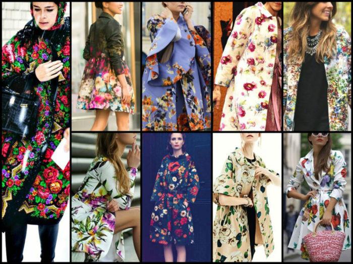 модные принты в пальто весна-лето 2018 фото 3