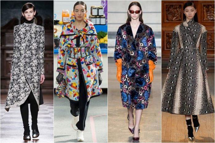 модные принты в пальто весна-лето 2018 фото 4