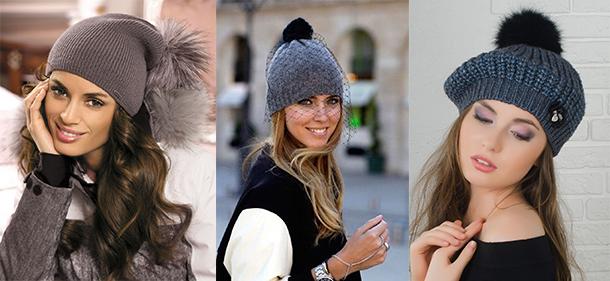 модные вязаные шапки весна 2018