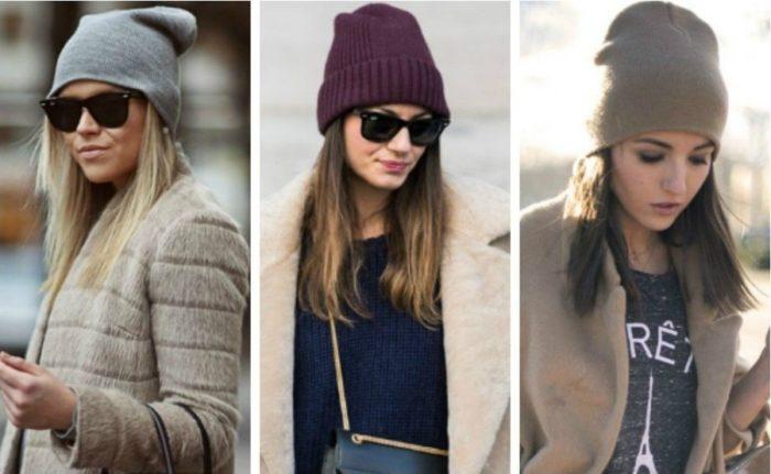 модные трикотажные шапки и береты весна 2018 1