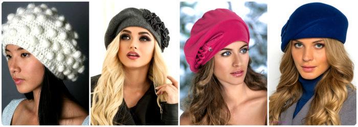 модные трикотажные шапки и береты весна 2018 2