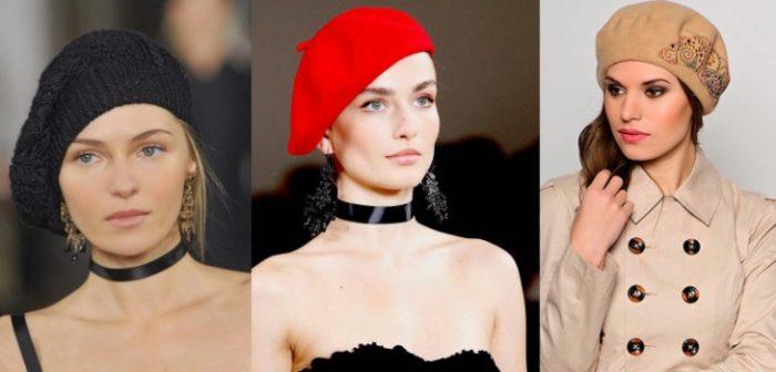 модные шапки и береты весна 2018, фото новинки 2