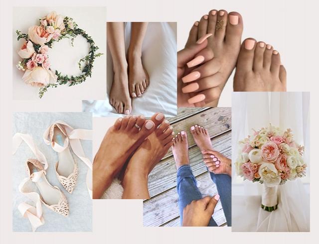модный свадебный педикюр 2018, новинки и идеи на фото 2