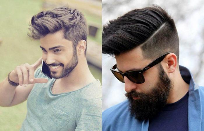классические стрижки с бородой 2018, фото новинки 2