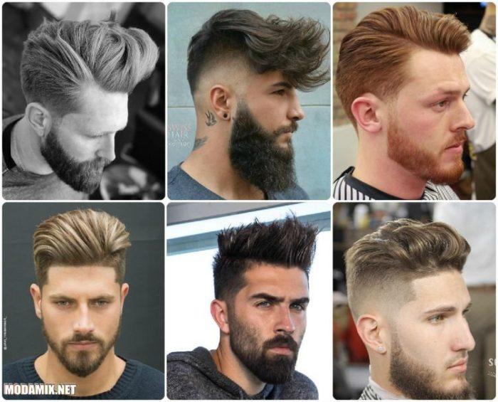классические стрижки с бородой 2018, фото новинки 6