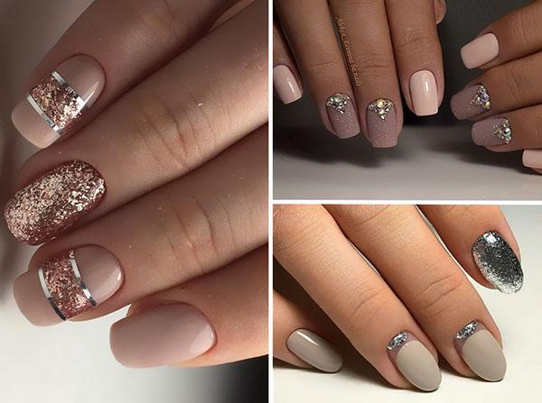 дизайн ногтей шеллаком в стиле Nude 2018, фото новинки 2