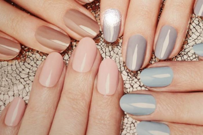 дизайн ногтей шеллаком в стиле Nude 2018, фото новинки 3