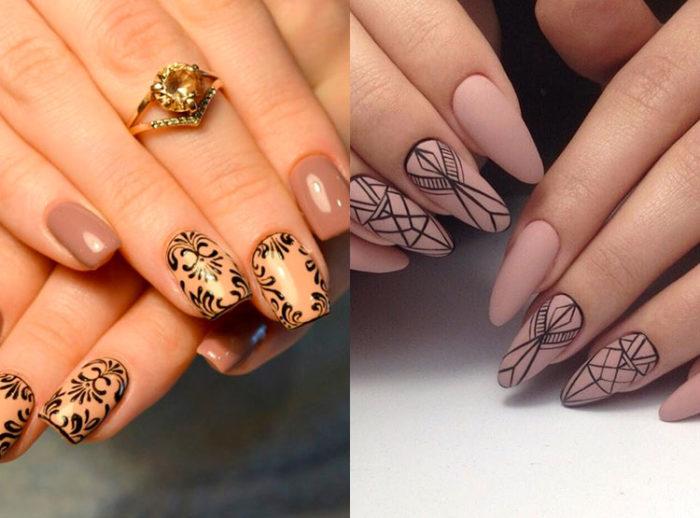 модный и красивый дизайн ногтей шеллаком 2018, фото 2