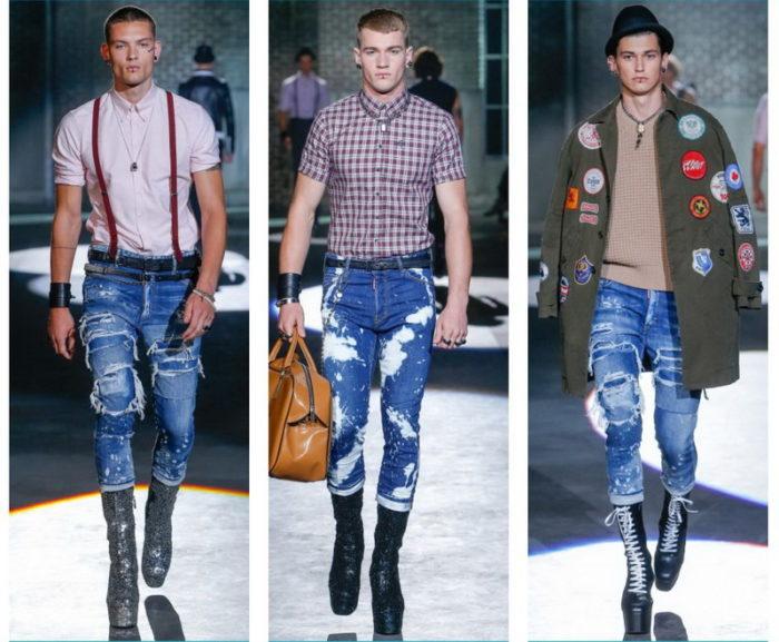 легкие потертости, дырки и «рванье» на джинсах фото 1