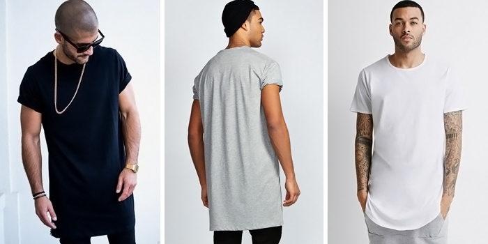 удлиненные футболки фото 2