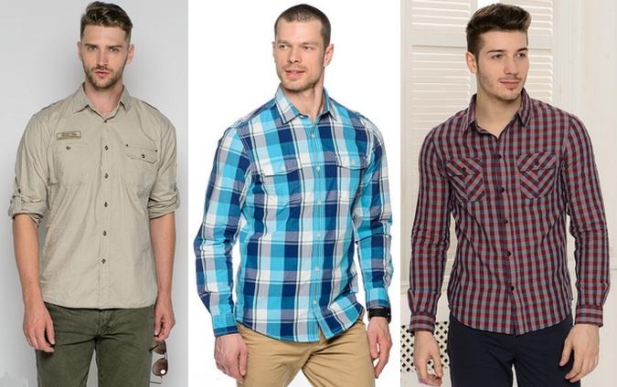 модные мужские рубашки весна-лето 2018, фото новинки 2