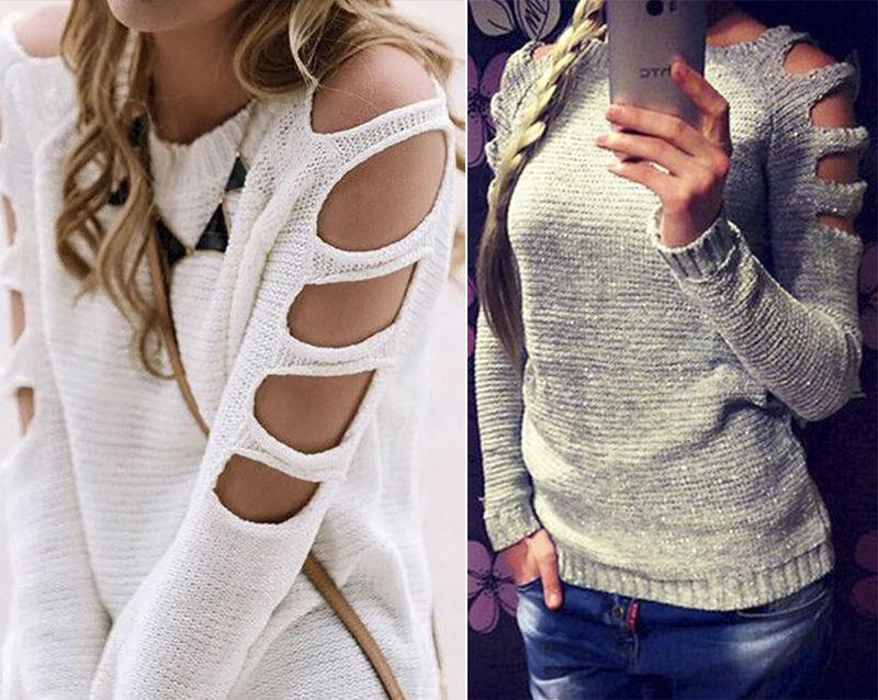 Вязание свитеров с открытыми плечами 343