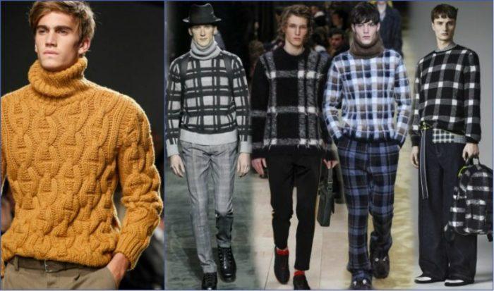 мужские свитера весна 2018, модные тенденции и тренды на фото 1