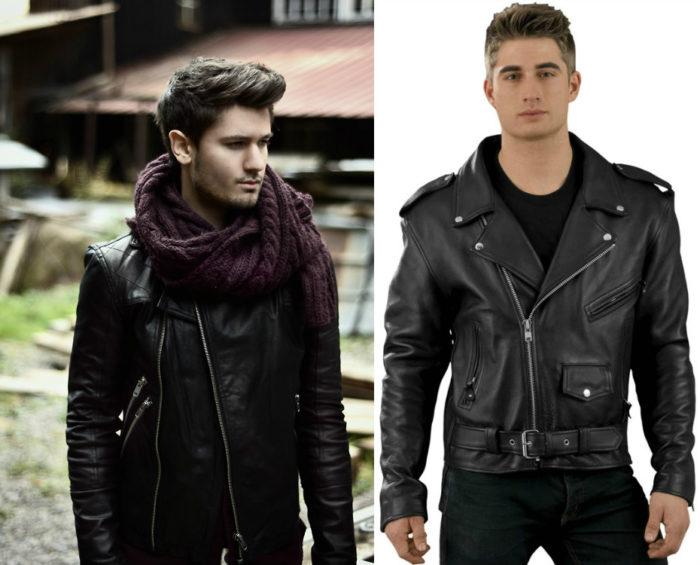 мужские кожаные куртки-косухи весна 2018, фото новинки 2