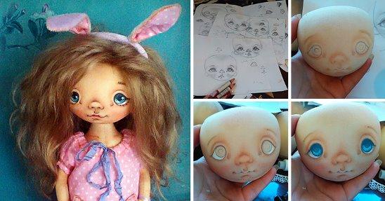 мастер-класс, как сшить куклу своими руками с красивым лицом фото 1