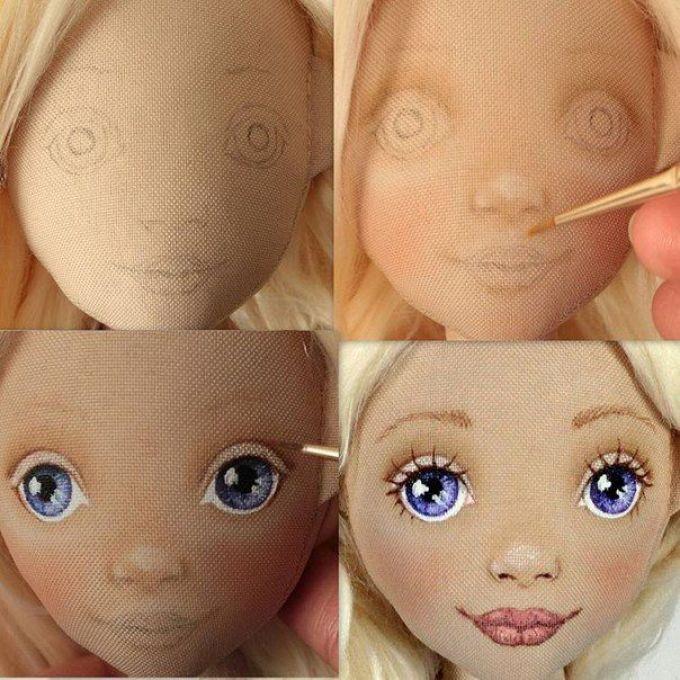 мастер-класс, как сшить куклу своими руками с красивым лицом фото 3