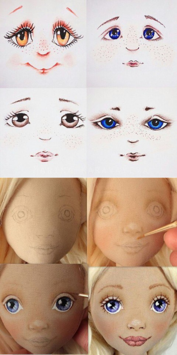 мастер-класс, как сшить куклу своими руками с красивым лицом фото 7