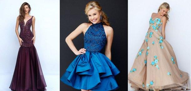 фасоны выпускных платьев 2018 фото 1
