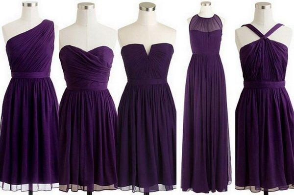 пурпурныеплатья на выпускной фото 2