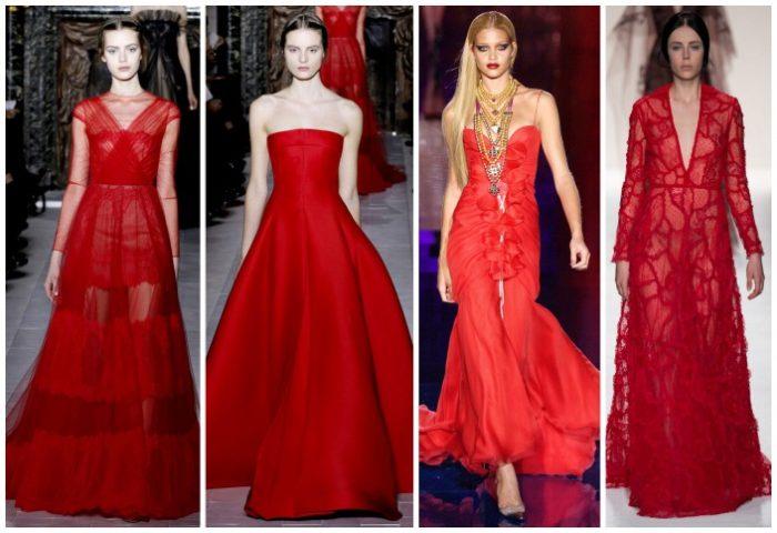 красныеплатья на выпускной фото 1