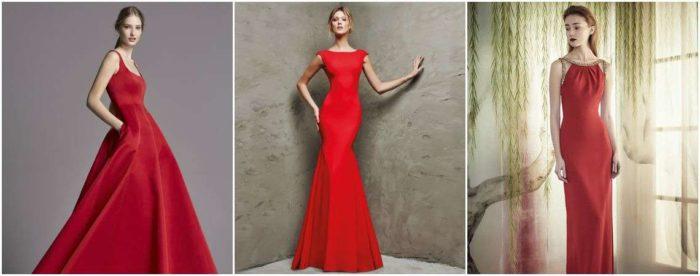 красныеплатья на выпускной фото 2