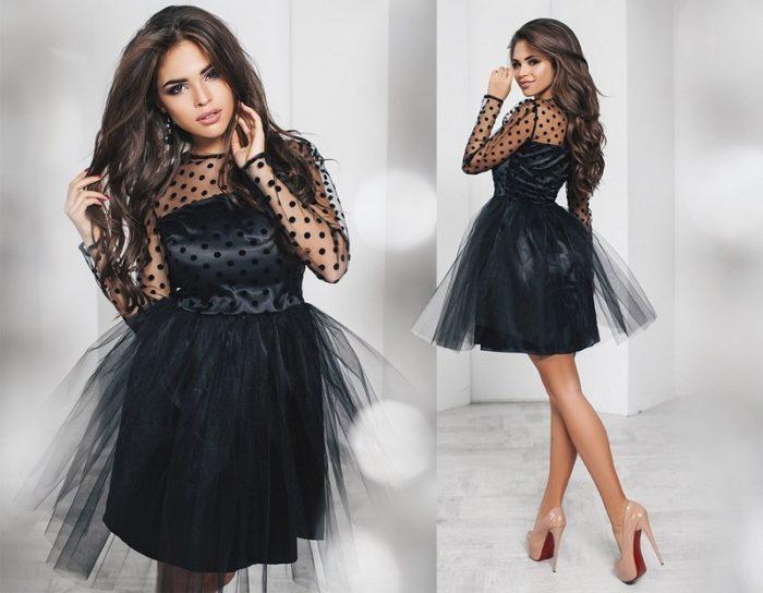 платье с прозрачными вставками на выпускной фото 2