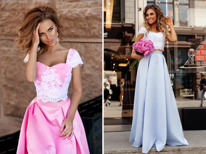 платья из двух частей фото 1